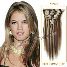 18 inch extensions inch 4 613 clip in remy human hair extensions 9pcs
