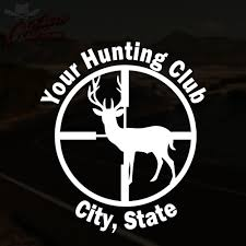 custom hunting club decal deer hunter buck truck sticker pick