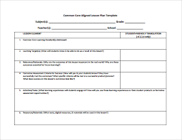 common core lesson plan template 6 download documents in pdf