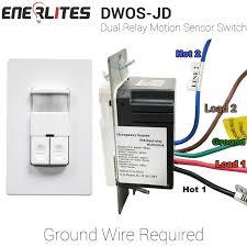enerlites dwos jd occupancy vacancy dual relay motion sensor