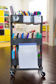 organize kids art supplies with an art cart fun with mama