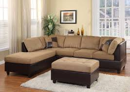 Suede Sectional Sofas 9909br Comfort Sectional Sofa In Light Brown By Homelegance