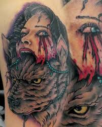 no regrets tattoo u0026 body piercing tattoos evil wolf lady head