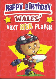 welsh humour card happy birthday wales next star player rugby