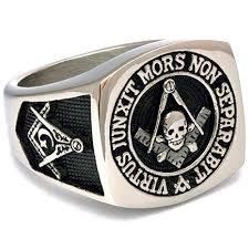 steel skull rings images Stainless steel scottish rite masonic ring with skull and bones jpg
