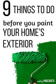 9 things to do before your paint the exterior of your home