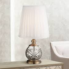 Accent Table Lamp Ida Crystal Sphere And Brass 15