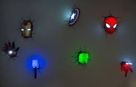 Best Night Lights 3d Superhero Wall Light The Best Night Lights For Your Kids