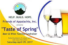 taste of spring wine and beer tasting fundraiser friends of