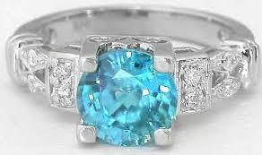 white zircon rings images Blue zircon diamond rings in 14k white gold with marquise and jpg