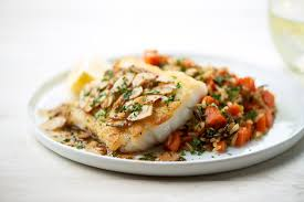 recipe cod amandine with wild rice pilaf home chef