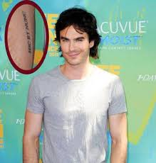 what does ian somerhalder u0027s tattoo say it says u201chic et nunc