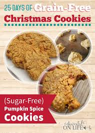 pumpkin spice cookies grain free and sugar free