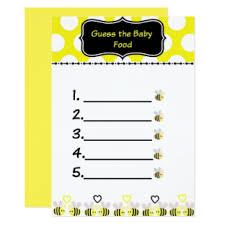 baby shower guessing baby shower guessing invitations announcements zazzle
