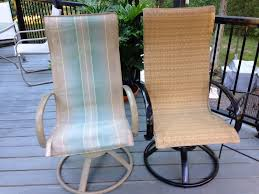 How To Spray Paint Patio Furniture Making And Installing New Slings For Homecrest Style Patio Chairs