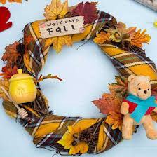 autumn wreath winnie the pooh autumn wreath disney inspired