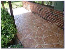 Refinishing Concrete Patio Resurfacing Concrete Patio With Tile Patios Home Design Ideas