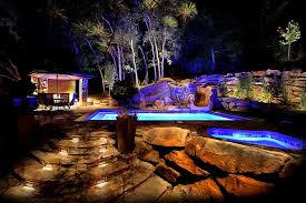 Cool Pool Ideas by Patio Picturesque Cool Pool Landscape Lighting Ideas Swimming
