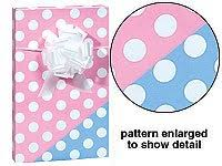 new trendy reversible pink or blue polka dot baby