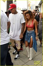 bugatti chris brown chris brown gets moral support from girlfriend karrueche tran during