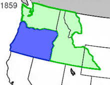 map of oregon country 1846 oregon territory
