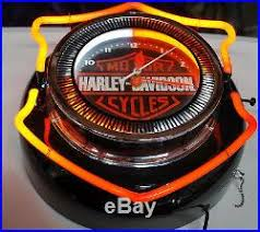 harley davidson lighted signs 13 vintage harley davidson motorcycles double neon clock sign