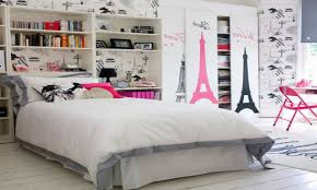 girls platform beds themed bedrooms for teenage girls pink heart pattern fabric