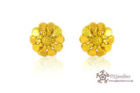 gold stud earrings uk online gold jewellery gold jewellery stud 22ct 916 yellow gold
