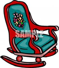 Rocking Chair With Cushions Picture Of A Rocking Chair With Padded Cushions In A Vector Clip