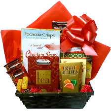 sympathy gift baskets chicken soup gift basket