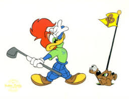 woody woodpecker playing golf golf choice collectibles