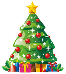 transparent deco christmas tree with gifts clipart navidad