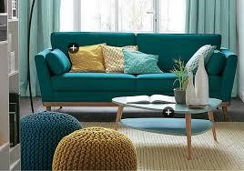 canapé style ée 50 canapé bleu canard style scandinave ées 50 50s table basse
