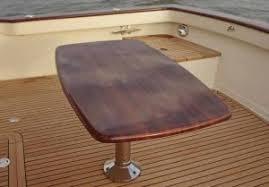 boat tables for cockpit custom cockpit tables for 55 flemings burr yacht sales inc