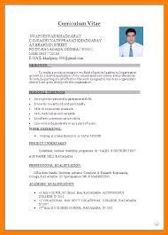 4 good resume format for freshers fancy resume