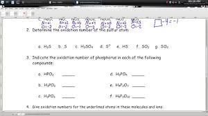 Calculating Molar Mass Worksheet Oxidation Numbers Worksheet U2013 Episode 1401 U2013 Page 14 04 Youtube