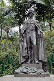 king george vi king george vi statue in hongkong zoological gardens stock photo