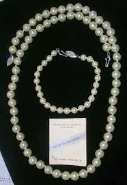 man pearl necklace images Lustrous estate mallorca imitation pearl necklace and bracelet jpg