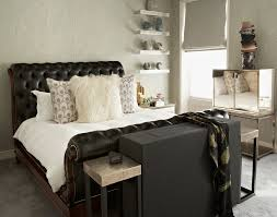 Tufted Sleigh Bed Tufted Sleigh Bed Bedroom Contemporary With Tufted Headboard