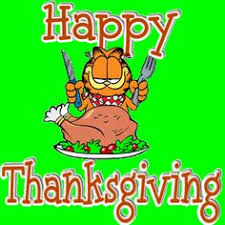 happy thanksgiving garfield odie happy