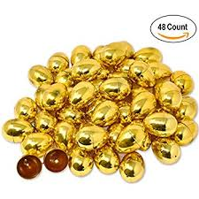 gold easter eggs hinged metallic gold easter eggs 48 pack plastic