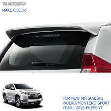 mitsubishi montero 2017 rear back tailgate roof spoiler for mitsubishi pajero qe montero