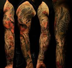 koi fish tattoo black and white sleeve