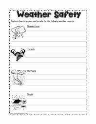 weather safetyworksheets