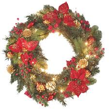 decorated wreaths 24 pre lit decorated artificial
