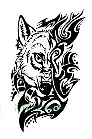 outstanding classy cool wolf face tattoo of tribal golfian com