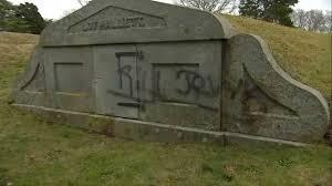 cemetery headstones headstones at cape cod cemetery vandalized necn