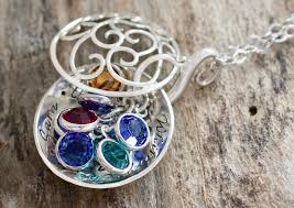 grandmother jewelry locket grandmother locket necklace birthstone necklace