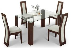 Dining Chairs Sale Uk Julian Bowen Mistral Walnut Clear Glass Top Dining Table With 4
