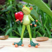 Frog Desk Accessories Novelty Frog Doll Figurines Give You My Frog Sculpture